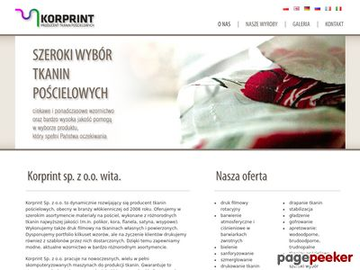 Producent tkanin Korprint